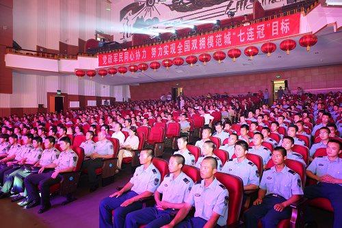 我市举办庆祝建军八十五周年慰问驻齐军警部队专场演出