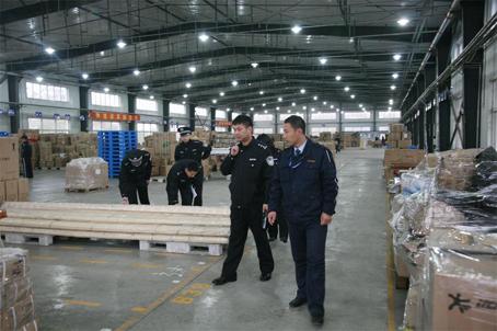 沈北警方开展物流寄递企业安全检查