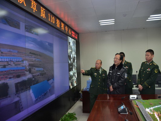郝光东副市长深入包头市边防支队指导工作