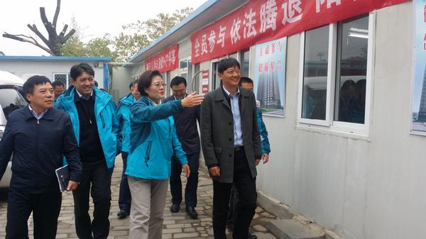 区委常委、组织部部长吴松元到东花市街道西忠实里环境整治项目指挥部调研工作情况